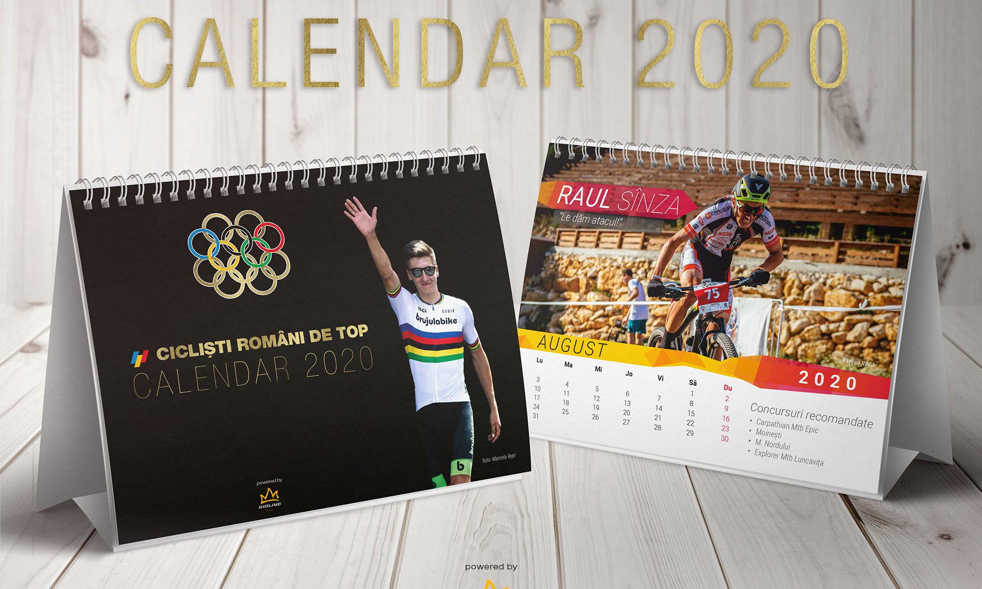 calendarul cu ciclisti romani de TOP
